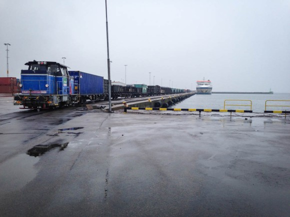 Regn i hamnen