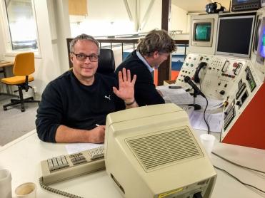 Björn och Peter i simulatorn
