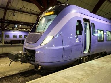 Ett grannt tåg i Malmö