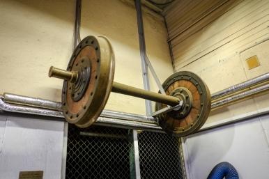 Hjul som tillverkats 1866 och sparats från en vagn som skrotades 1958