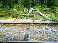 Här kunde man parkera sin dressin i väntan på att tåget skulle passera